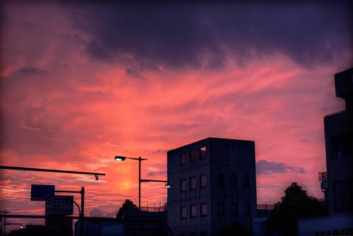 sunset sky japan photoshop dusk 日本 hdr aichiprefecture chubu honshu 愛知県 mikawa tonemapped 岡崎市 laspina 本州 中部地方 davidlaspina efs1855mmf3556is okazakicity japandave japandavecom 三河国