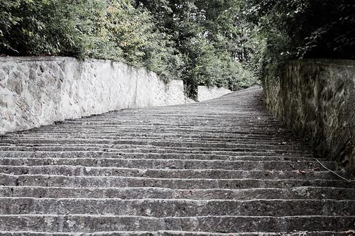 Escalera de la muerte en el campo de concentración de Maut