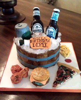 Marvelous Beer Themed Birthday Cake I Was Asked To Make A Surprise B Flickr Personalised Birthday Cards Veneteletsinfo