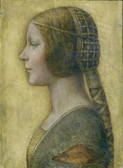 Leonardo - Profile of a young Fiancée
