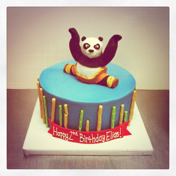Tremendous Kung Fu Panda Birthday Cake Childrenbirthday Kungfupanda Flickr Funny Birthday Cards Online Alyptdamsfinfo