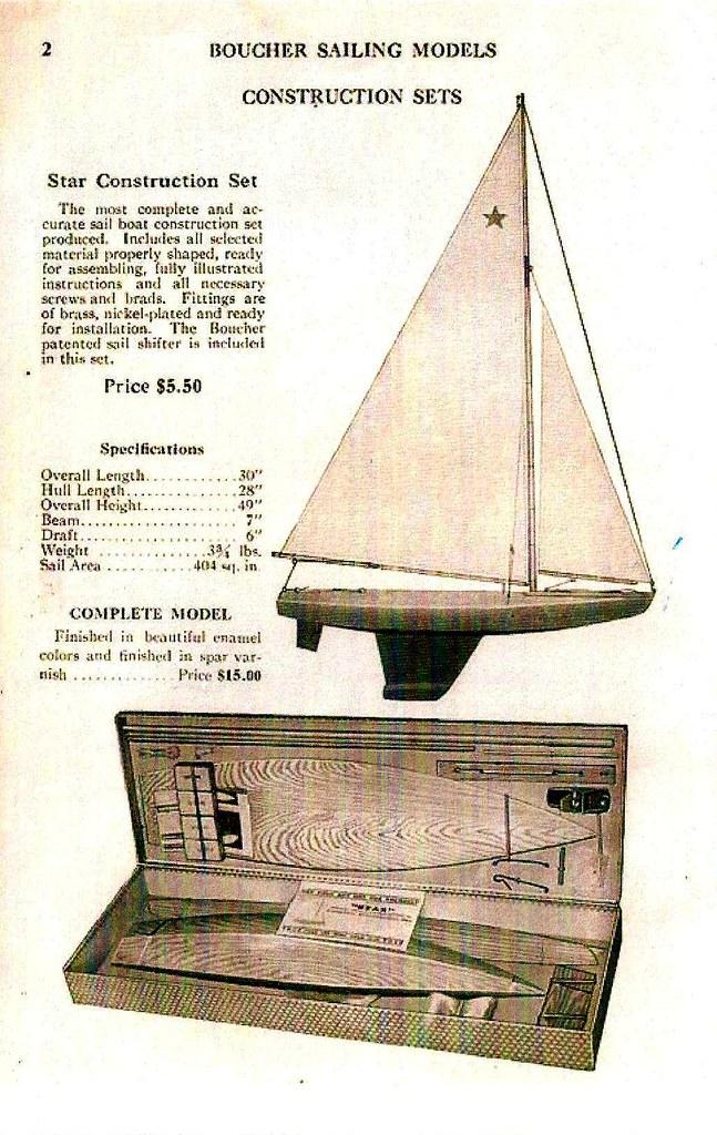 1939 Boucher Model Yacht Catalog - STAR Construction Set