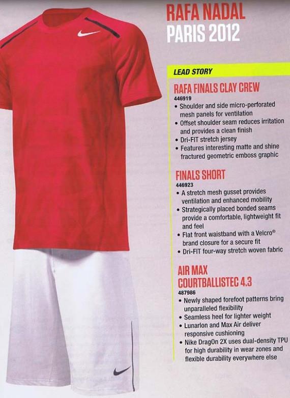 pretty nice bad2e d9532 ... Roland Garros 2012  Rafael Nadal Nike outfit   by tennis buzz