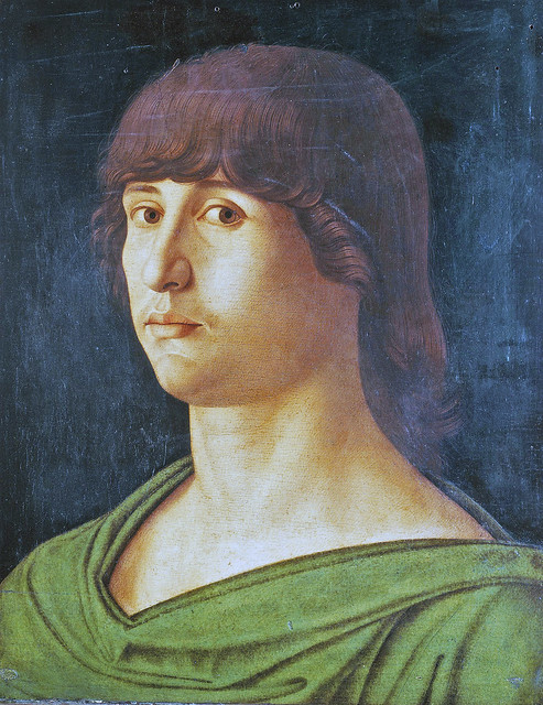 Giovanni Bellini - Portrait of a young man, detail (1470)