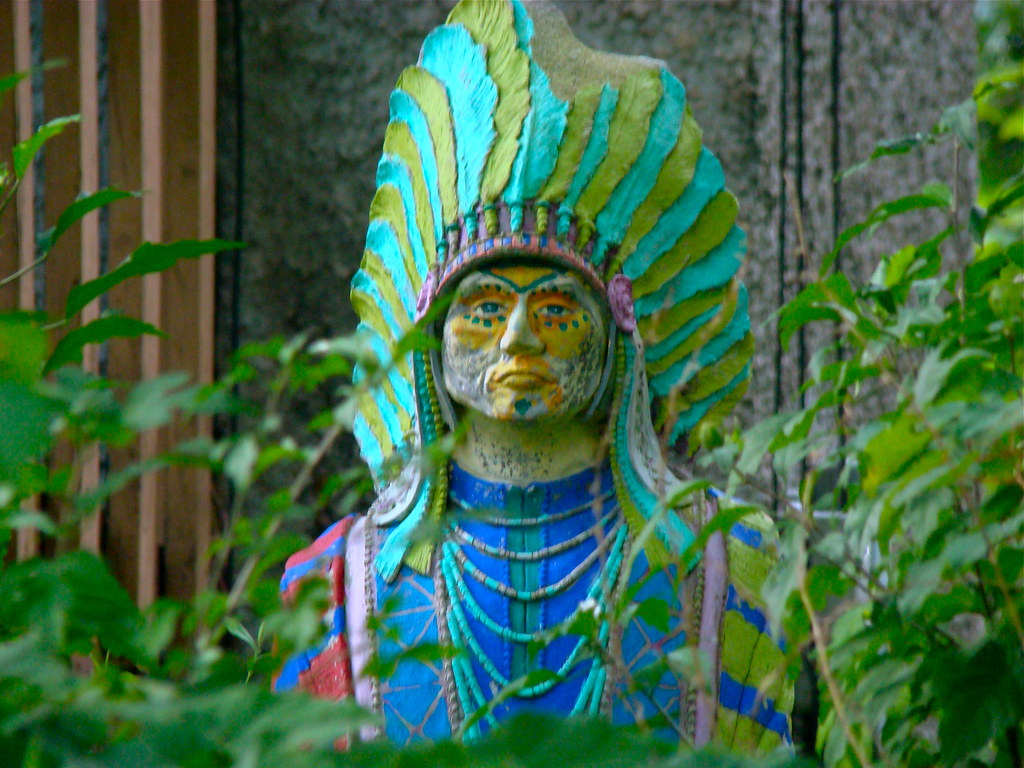 Cigar-store indian on a permanent acid flashback | This is m