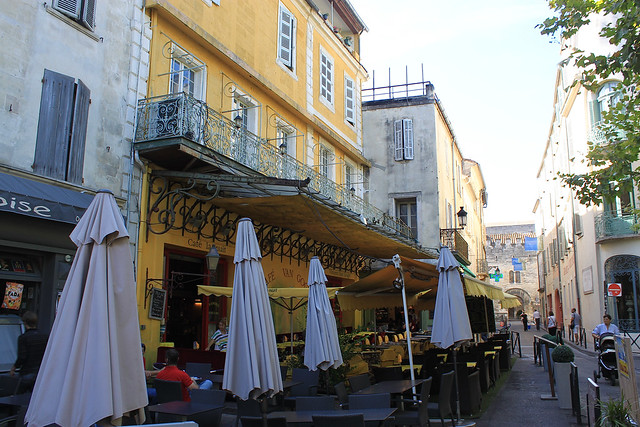 Lugares Que Ver Terraza De Café Por La Noche