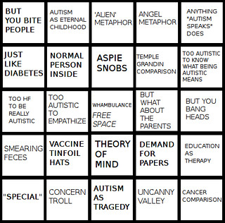 autism bingo card