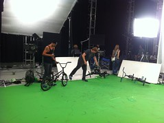 Flo Sailer at the Set for an Opel commercial