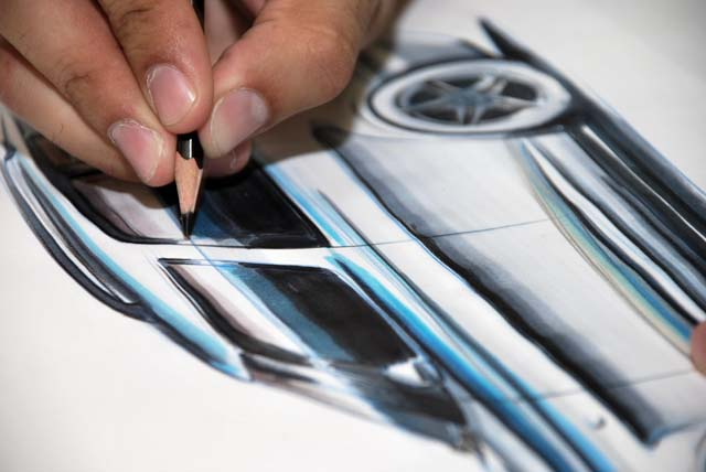 Master In Transportation & Automobile Design TAD03 | Lezione di disegno in aula | Indoor sketching lesson