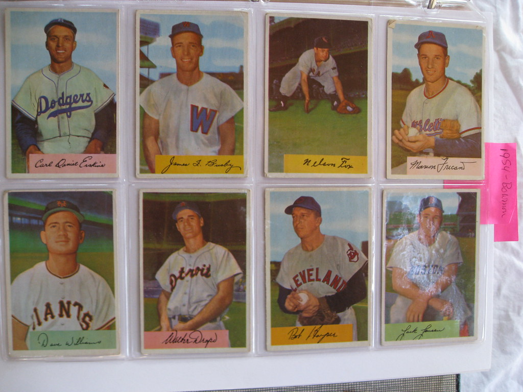1954 Bowman Baseball Cards 1954 Bowman Baseball Cards Flickr