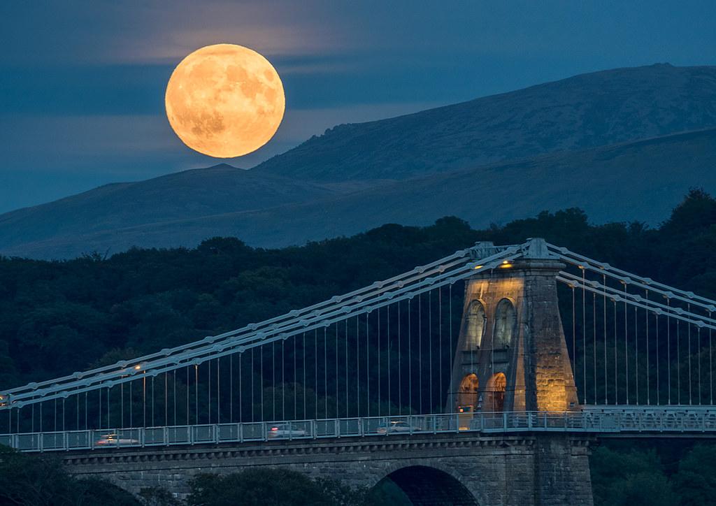 'Menai Moonrise' - Anglesey