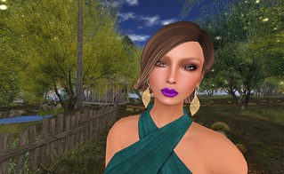 Rock Your Rack 2015_Dulce Secret (Azami Shape), LoveMe Skin (Bold Purple Lipstick) & Lyrical B!zarre Templates (Jolie Earrings) | by Hidden Gems in Second Life (Interior Designer)