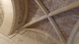 Unfinished vaulted ceiling construction at Woodchester Mansion