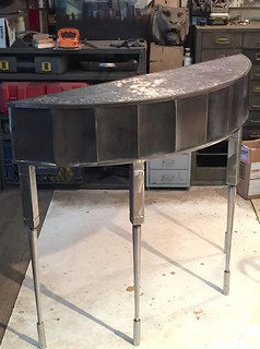 DemiLune Console prior to Final Finishing