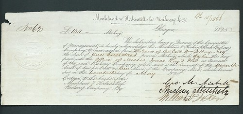 Monkland & Kirkintilloch Railway receipt 1825 | by ian.dinmore