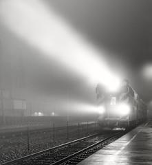 Metra Train High Beams