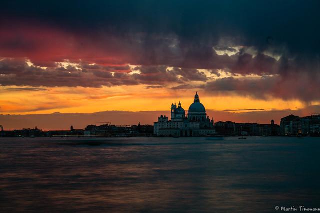 Tonights sunset over Venice, Italy