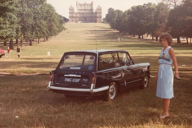 Triumph Herald Estate at Woolatton Hall c.1983