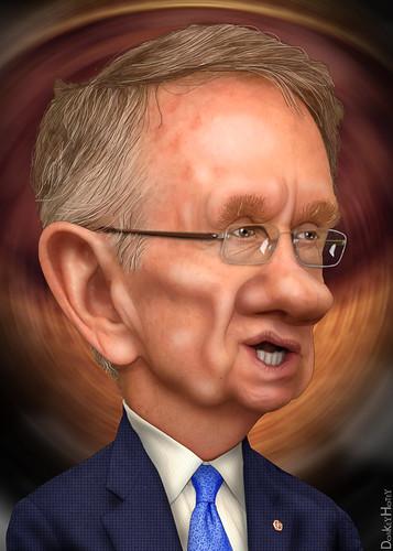 Harry Reid - Caricature | by DonkeyHotey