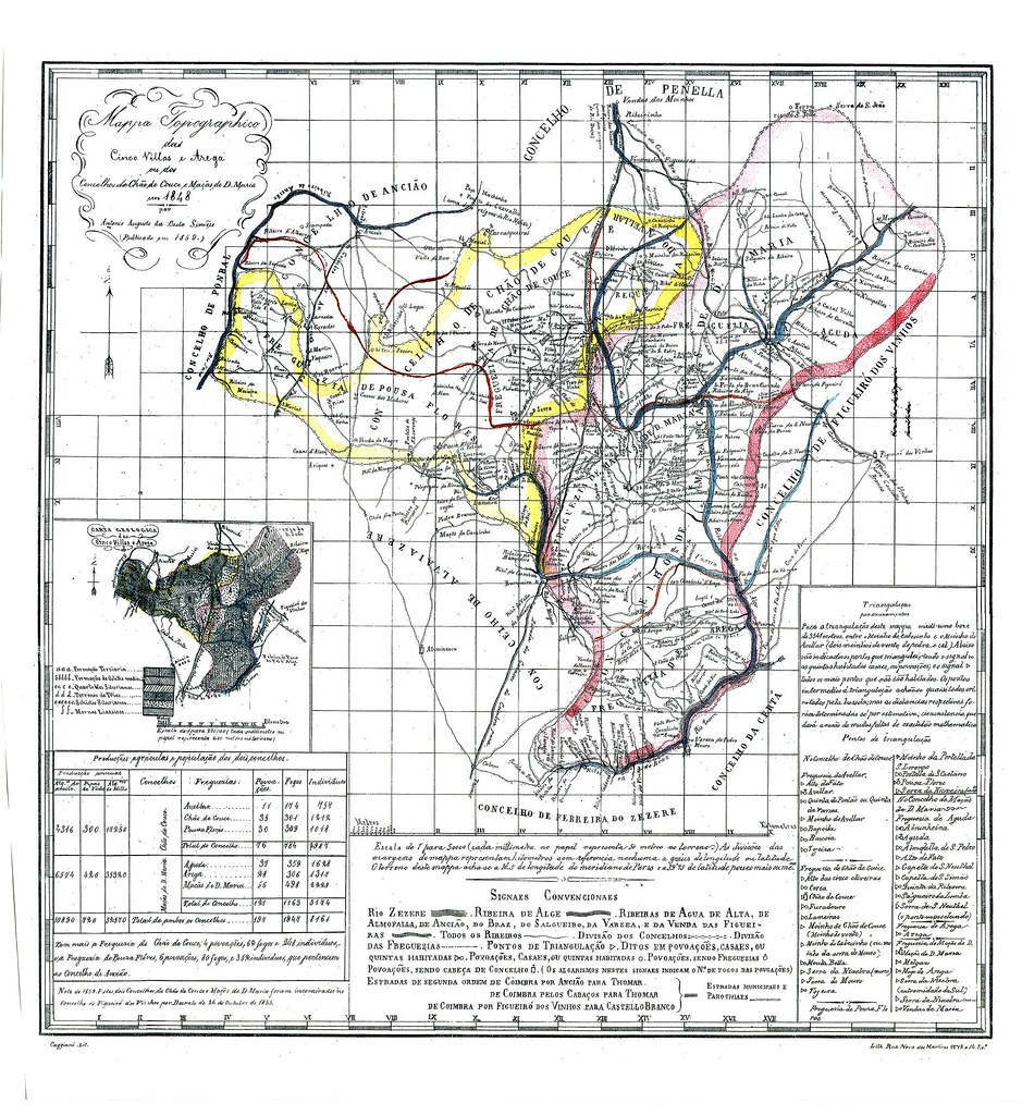 Mapa Das Cinco Vilas E Arega Ou Dos Concelhos De Chao De C Flickr