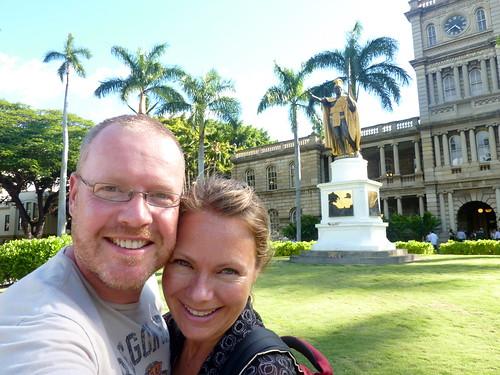 Honolulu - beeld van de koning