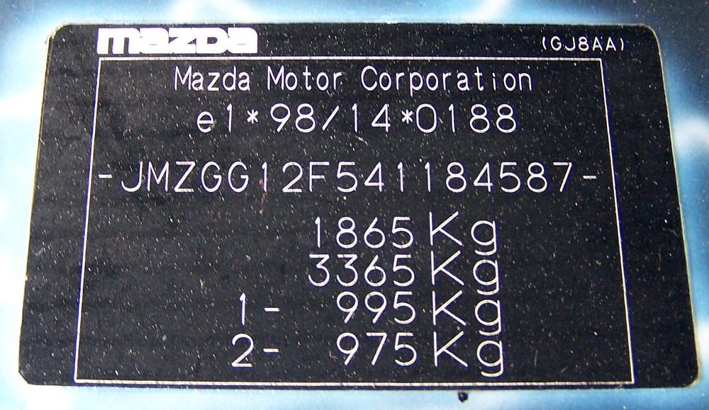 Mazda 6 2003 Serial Number Plate Vin Tag Se\u2026 Flickrrhflickr: Mazda 6 Vin Location At Gmaili.net