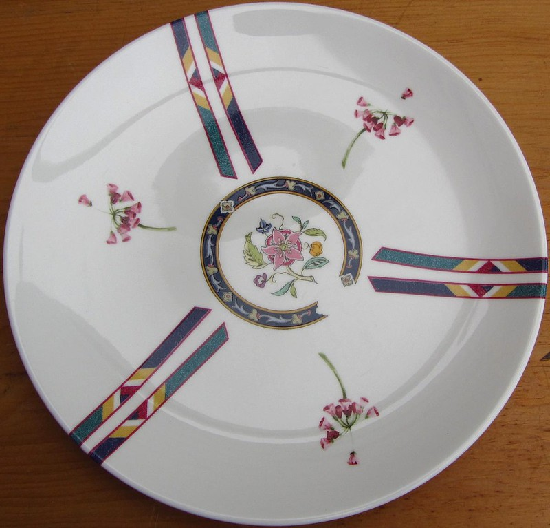 his plate front
