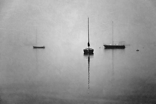 morning blackandwhite bw mist ma boats three flat provincetown capecod peaceful calm cape serene giantonio kgiantonio kengiantonio ellenvd