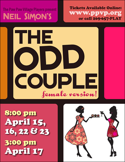 The Odd Couple: Female Version Poster | Designed by Kelly Wh