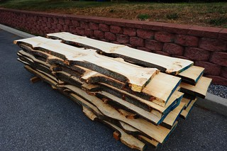 Knotty pine slab lumber – in Frederick MD – at Hardwoods Inc