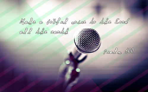 psalm 100 1 microphone 1440x900