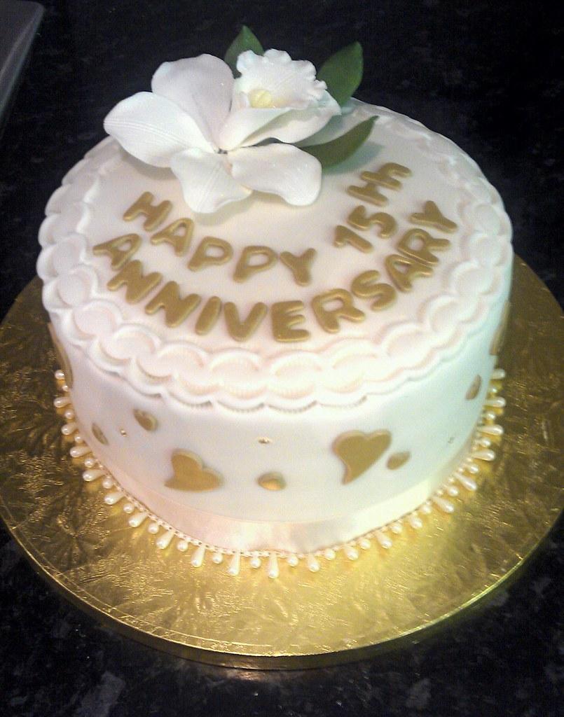 15th Wedding Anniversary.15th Wedding Anniversary Cake Laura Jayne Flickr