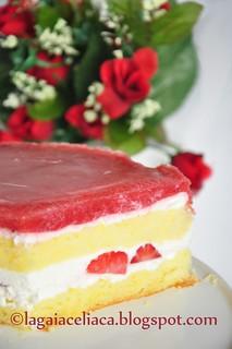 torta fragole e chantilly allo yogurth - l'interno | by mammadaia