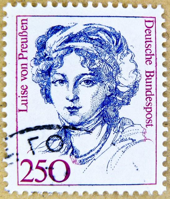 beautiful stamp Germany 250pf. Luise von Preussen (1776-1810) Queen of Prussia 250 pf timbre allemangne selo alemanha porto postage Germany sello francobolli bollo Briefmarke Deutsche Bundespost