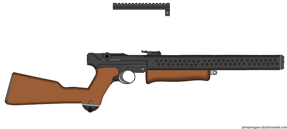 custom luger carbine WIP | i need ideas for front sight and