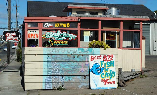 Steak & Burger House, Fort Bragg California