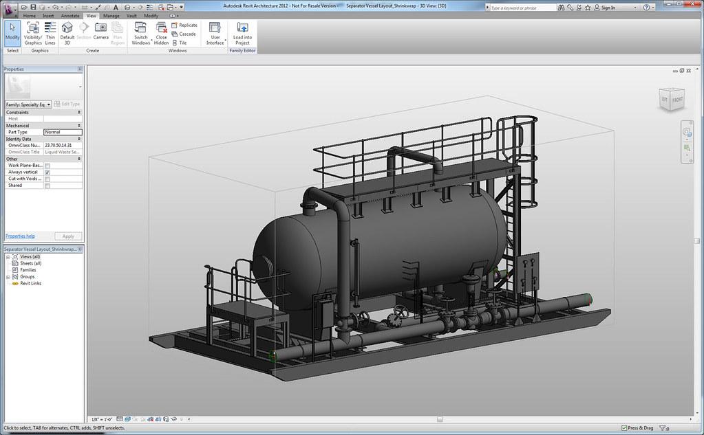 Autodesk Revit Architecture | A water treatmet skid for a la