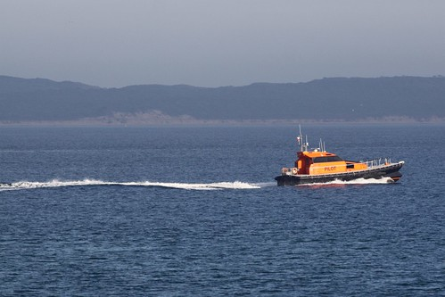 Port Phillip Sea Pilots heads out from Queenscliff to guide another ship through The Rip