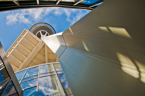 Space Needle Abstract