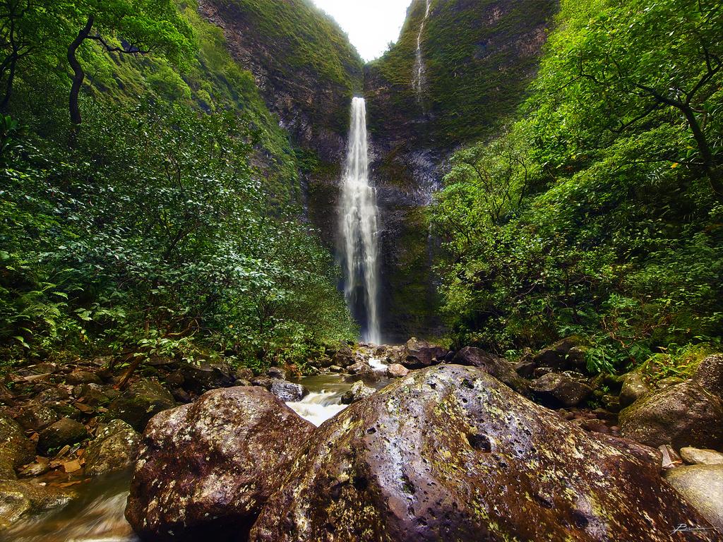 hanakapiai falls by paul bica