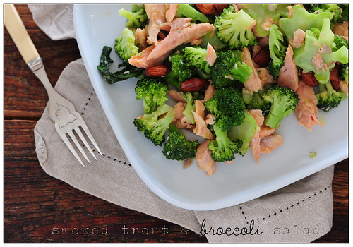smoked trout and broccoli salad | by jules:stonesoup