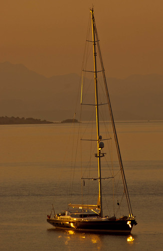 sea summer sunrise boats greek boat mediterranean harbour yacht greece anchor greekislands corfu greekisles ionianislands nisaki nissaki holidaysingreece