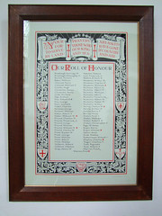 our roll of honour