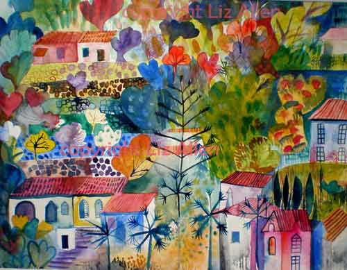 Caldas watercolour