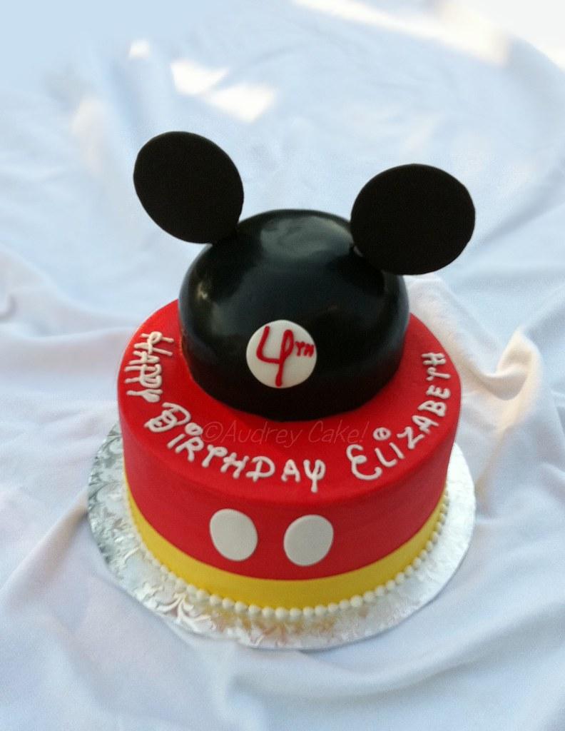 Peachy Mickey Birthday Cake Prior To A Disneyland Trip What Bett Flickr Funny Birthday Cards Online Elaedamsfinfo