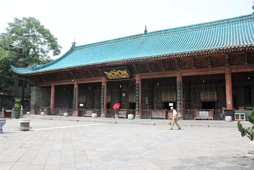 The prayer hall of Great Mosque of Xi'an in China   by michelle.ongsc
