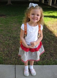 A new skirt for the first day of preschool!