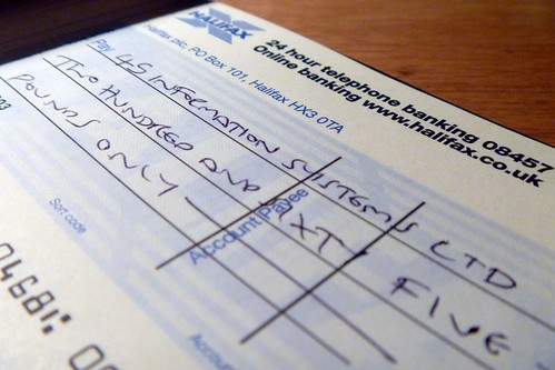 Project 365 #251: 080911 Cheque It Out!   by comedy_nose