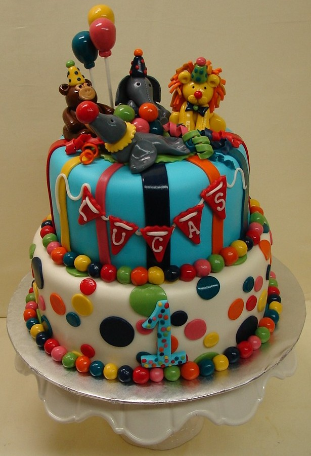 Zoo Animals Come To The Party Birthday Cake Zoo Animals Co Flickr