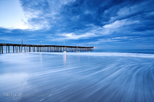 blue cloud seascape beach landscape virginia pier fishing nikon hour d7000